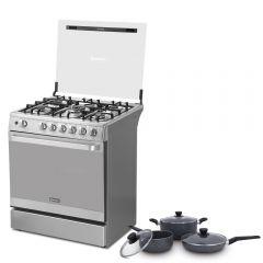 Cocina a GLP Miray GLADIOLO 5 hornillas + Juego de Ollas Miray JOM-062