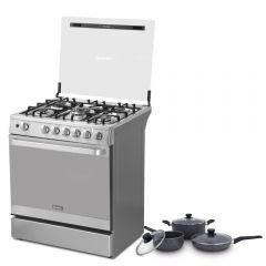 Cocina a Gas Miray PONCIANA 5 hornillas + Juego de Ollas Miray JOM-062