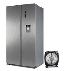 """Refrigeradora Miray RM-555HID No Frost 559L + Ventilador Circulador Miray 12"""" VMC-757N"""