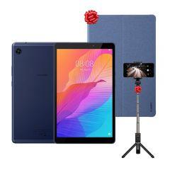 "Tablet Huawei MatePad T8 KOBE2W09B 8"" 32GB + Funda Cover Huawei para Matepad T8 Blue + Trípode Huawei Selfie Stick HWI-AF15"