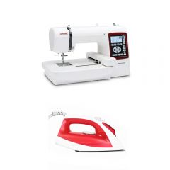 Máquina bordadora Janome Memory Craft MC230E + Plancha Miray PM-60R