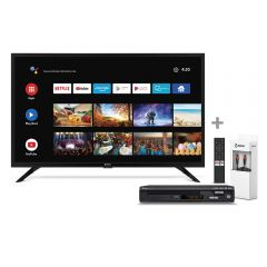 """TV Miray LED HD Smart 32"""" MS32-T1000BT + Reproductor DVD Miray DVM-L126 + Cable Optico Digital Miray CAMY-VC2"""