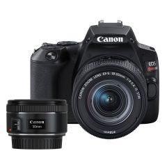 Cámara Digital Canon EOS REBEL SL3 18-55 STM + Lente para cámara Canon EF-50MM F/1.8 STM