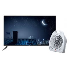 "TV Miray LED 4K UHD Smart 55"" MK55-E200 + Estufa Termo Ventilador Miray ETM-36"