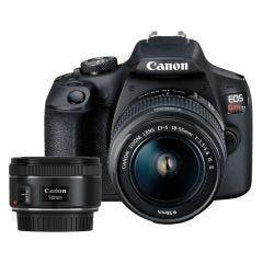 Cámara Digital Canon EOS REBEL T7 18-55 DCIII + Lente para cámara  EF-50mm f/1.8 stm Canon