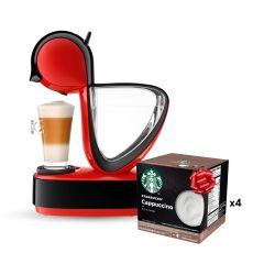 Cafetera Infinissima BLKFERRED1 1.2L + 4 cajas Capsulas Starbucks Capuccino x12 GRATIS