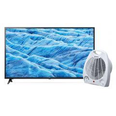 """TV LG LED 4K UHD Smart 49"""" 49UM7100PSA + Estufa Termo Ventilador Miray ETM-36"""