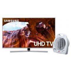 """TV Samsung LED UHD Smart 65"""" UN65RU7400GXPE + Estufa Termo Ventilador Miray ETM-36"""
