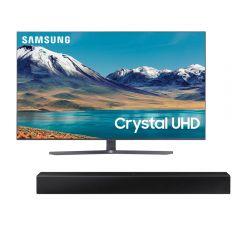 "TV Samsung LED 4K UHD Smart 55"" UN55TU8500GXPE + Soundbar Samsung HW-T400/PE"