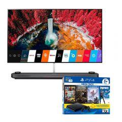 "TV LG OLED 4K UHD Smart 65"" OLED65W9PSA + Consola PS4 Slim 1TB Megapack 6 BNDL"