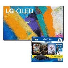 "TV LG OLED 4K UHD Smart AI 77"" OLED77GX (2020) + Consola PS4 Slim 1TB Megapack 6 BNDL"