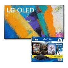 "TV LG OLED 4K UHD Smart AI 65"" OLED65GX (2020) + Consola PS4 Slim 1TB Megapack 6 BNDL"