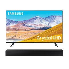 "TV Samsung LED 4K UHD Smart 55"" UN55TU8000GXPE + Soundbar Samsung HW-T400/PE"