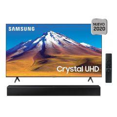 "TV Samsung LED 4K UHD Smart 75"" UN75TU6900GXPE + Soundbar Samsung HW-T400/PE"