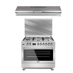 Cocina a Gas Klimatic F9S60GF-SS 6 Hornillas + Campana Extractora Klimatic N5-90SS 90cm