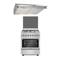 Cocina GN/GLP Klimatic Venti M 4 hornillas + Campana Extractora Klimatic CK-601IX-A 60cm