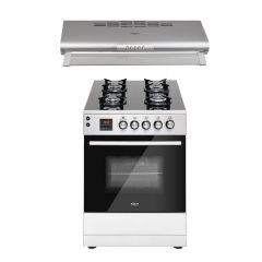 Cocina GN/GLP Klimatic Vita Pro 4 hornillas + Campana Extractora Klimatic N560SS 60cm