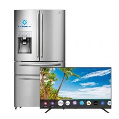"Refrigeradora Indurama RI-929FDH No Frost 516L + TV Miray Led Smart 4K UHD 50"" MK50-T102"