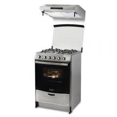 Cocina a Gas Miray Salvia 4 Hornillas + Campana Extractora Miray CEM-61