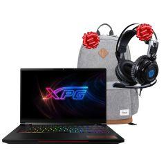 """Laptop Gaming XPG Xenia 2070 Max-Q 8GB 15.6"""" Intel Core i7-9750H 1TB 32GB RAM + Mochila Targus TSB93604GL + Audífono con micrófono HP H200"""