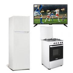 """TV Miray LED Smart 32"""" MS32-E200 + Refrigeradora Miray RM-168H 168L + Cocina a Gas Miray Mirto 4 Hornillas"""