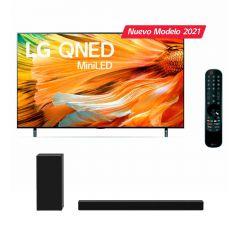 """TV LG LED 4K MINI LED ThinQ AI 65"""" 65QNED90 (2021) + Soundbar LG SPD7Y"""