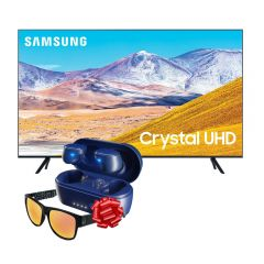 "TV Samsung LED 4K UHD Smart 55"" UN55TU8000GXPE + Audífonos Skullcandy Sesh BT Blue + Lentes Bold Red GRATIS"