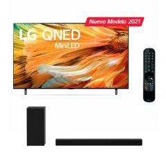 """TV LG LED 4K MINI LED ThinQ AI 75"""" 75QNED90 (2021) + Soundbar LG SPD7Y"""