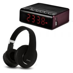 Audífonos MIRAY AM-8677B-N + Radio Reloj Miray PMBT-36R