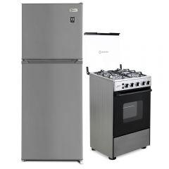 Refrigeradora Miray RM-200HI + Cocina A Gas Miray LIMON