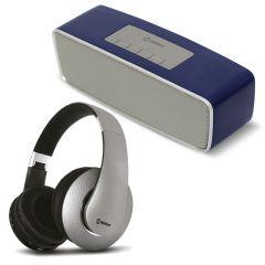 Parlante Portátil Miray  PMBT-50A + Audifono Miray AM-8677B-G