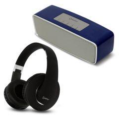 Parlante Portátil Miray PMBT-50A + Audífonos Miray AM-8677B-N