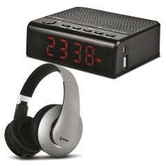 Audífono Miray AM-8677B-G  + Parlante Portátil Miray PMBT-36N
