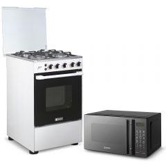 Cocina a Gas Miray Mirto + Horno microondas Miray HMM-21N