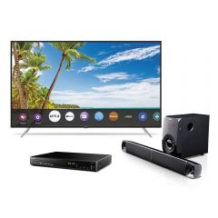 "TV Miray LED 4K UHD Smart 65"" MK65-T101 + Reproductor Blu-ray Miray BLM-BD311+ Sounbar Miray SBM-C832BT"