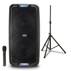 Parlante Amplificador Miray PAM-114 + Soporte Para Parlante Miray SPM-02