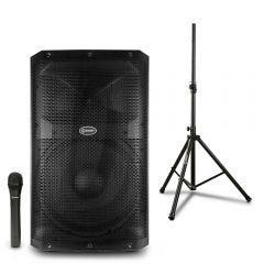 Parlante Amplificador Miray PAM-115 + Soporte Para Parlante Miray SPM-02