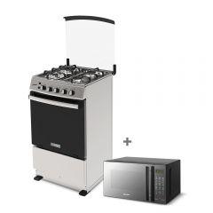 Cocina a Gas Miray Cerezo 4 Hornillas + Horno microondas Miray HMM-21N