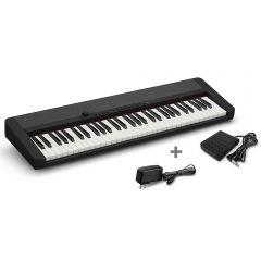 Órgano Electrónico Casio CT-S1BK Negro + Adaptador Miray AM-94 + Pedal de piano Casio SP-3H2
