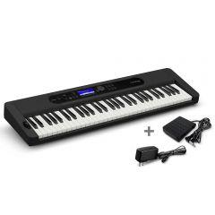 Órgano Electrónico Casio CT-S400 Negro + Adaptador Miray AM-94 + Pedal de piano Casio SP-3H2