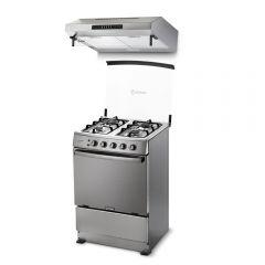 Cocina a Gas Miray Gardenia 4 Hornillas + Campana Extractora Miray CEM-61
