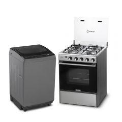 Cocina a GLP Miray Olmo 4 hornillas + Lavadora Automática Miray LMA-102 10kg