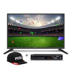 "TV Miray LED HD 32"" ME32-K500 + Reproductor DVD Miray DVM-L126 + Gorra"