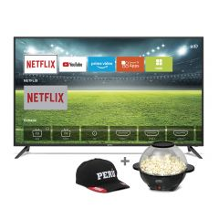 "TV Miray LED 4K UHD Smart 43"" MK43-E201 +  Pop cornera Miray POPM-14 + Gorra + Pila Maxell LR-03AAAx2"