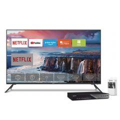 "TV Miray LED 4K UHD Smart 50"" MK50-E201 + Reproductor Blu Ray Miray BLM-BD310 + Cable HDMI Miray CAHDMI-VC3"