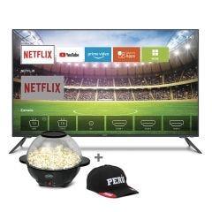 "TV Miray LED 4K UHD Smart 50"" MK50-E201 +  Pop cornera Miray POPM-14 + Gorra + Pila Maxell LR-03AAAx2"