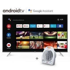 """TV Miray LED 4K UHD Smart 58"""" MK58-T1000BT + Estufa Termo Ventilador Miray ETM-37"""