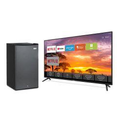 """TV Miray LED Smart 4K UHD 65"""" MK65-E201 + Frigobar Miray RM-93 90L + Pila Maxell LR-03AAAX2"""