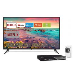 """TV Miray LED Smart FHD 40"""" MS40-E201 + Reproductor Blu Ray Miray BLM-BD310 + Cable HDMI Miray CAHDMI-VC3"""