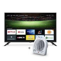"""TV Miray LED Smart FHD 40"""" MS40-T100 + Estufa Termo Ventilador Miray ETM-37"""